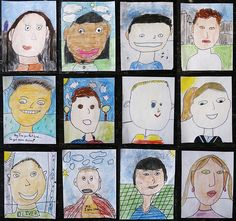 3rd grade self portrait collage by a_stlkr, via Flickr