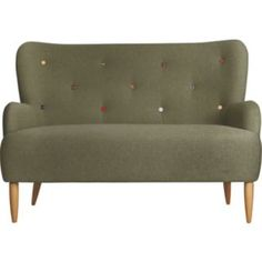 Buy Habitat Wilmot 2 Seater Sofa - Green with Coloured Buttons at Argos.co.uk - Your Online Shop for Sofas.
