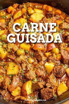 Spanish Dishes, Mexican Dishes, Mexican Food Recipes, Spanish Food Recipes, Authentic Spanish Recipes, Stew Meat Recipes, Crockpot Recipes, Cooking Recipes, Stew Chicken Recipe