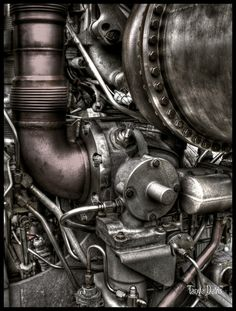 This is a rocket engine from NASA in Houston Texas. Prints, cards and magnets at my deviant art site :-)