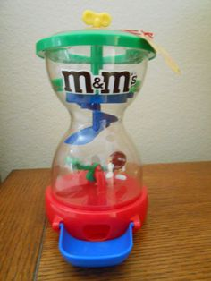 M&M Candy Dispenser Drop Onto SeeSaw To Raise Red Character Plastic Original NEW #MM