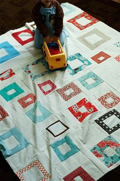 wonky square quilt