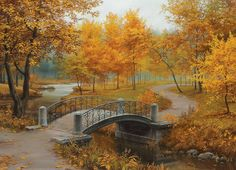 Zoom In Autumn in an Old Park by Eugene Lushpin. 1000 pieces