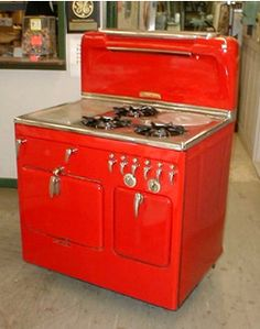 1949 Red Chambers Stove                                                                                                                                                                                 More
