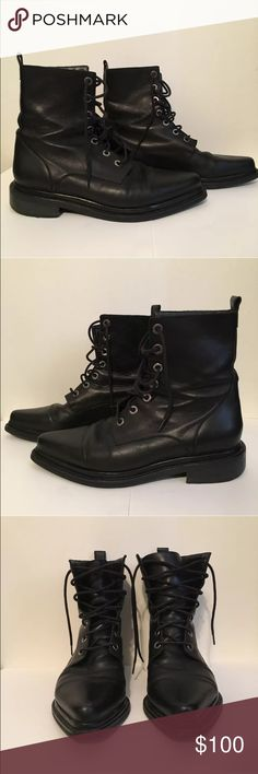 All saints black leather boots Preowned. Size EU 39 US 8.5 All Saints Shoes Ankle Boots & Booties