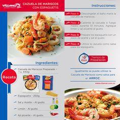 ¡Y para el día de hoy una #RecetaRapida! Los invitamos a disfrutar de una rica cazuela de mariscos  con espaguetis! Es muy fácil y deliciosa.  https://www.facebook.com/Vitamarpescadosymariscos?ref=hl