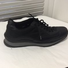 Prada Leather And Canvas Women Sneakers Size 38 Black Athletic Shoes. Get the must-have athletic shoes of this season! These Prada Leather And Canvas Women Sneakers Size 38 Black Athletic Shoes are a top 10 member favorite on Tradesy. Save on yours before they're sold out!