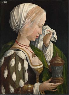 1525 Master of the Legend of Mary Magdalene (Netherlandish painter, fl Magdalen Weeping Renaissance Kunst, Renaissance Portraits, Renaissance Paintings, Renaissance Fashion, Renaissance Clothing, Maria Magdalena, Landsknecht, Old Paintings, Old Master