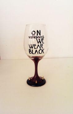 On wednesday we wear black wine glass - American Horror Story