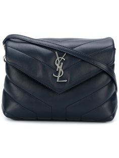 72ed185726  saintlaurent  bags  shoulder bags  leather   Navy Blue