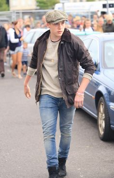 Brooklyn Beckham in Slim Blue Jeans