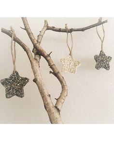 Items similar to Set Of Three Christmas Stars // Handmade Crochet Ornament // Gold Ornaments // Glitter Star // Boho Decor // Christmas Tree Decoration on Etsy Crochet Ornaments, Gold Ornaments, Crochet Stars, Glitter Stars, Christmas Star, Christmas Tree Decorations, Boho Decor, Boho Fashion, Gypsy