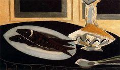 Georges Braque, La carafe et les poissons 1946
