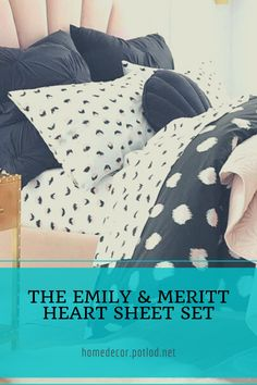 Sleep to your heart's content surrounded in the cozy comfort of our sheet set that's specially finished for superior softness. It's designed exclusively for PBteen by celebrity stylists and fashion designers Emily Current and Meritt Elliott.