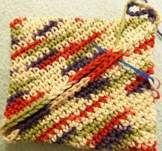 Magic Square potholder- This is the easiest potholder to make, the first ever crochet project my Grandma C taught me.