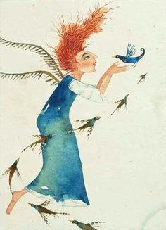 Een van Piet Grobler, 'n Suid-Afrikaanse kunstenaar, se illustrasies Art And Illustration, Watercolor Illustration, Illustration Children, Book Illustrations, South African Design, South African Artists, African Colors, Art Story, Art Corner