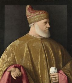 Doge Andrea Gritti. Oil on canvas, by Vincenzo Catena, 1523-31?, National Gallery