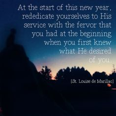 St Louise de Marillac's advice for the new year #DaughtersofCharity #NewYear
