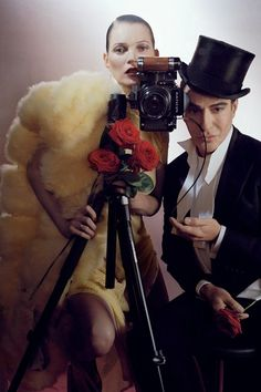 This Year In Pictures 2013 - John Galliano turns guest fashion editor for Vogue's December issue, creating a fantastical shoot with long-time friend and supporter Kate Moss. Photo By Tim Walker