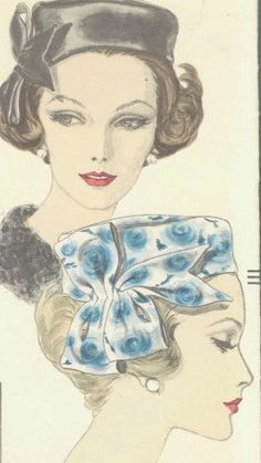 Vintage 1960s Vogue Pillbox Hat pattern with bow by by SewIndigo, $35.00