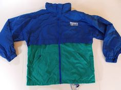 Large Mens Discovery Channel Blue Green Jacket Coat Light Wind Rain TV T1… Nike Jacket, Rain Jacket, Wind And Rain, Discovery Channel, Blue Green, Cool Stuff, Tv, Coat, Jackets