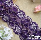 1yd violet doubling piece stretch lace fabric sewing trim wedding doll dressL531 - doll, doubling, dressL531, fabric, Lace, Piece, Sewing, Stretch, trim, Violet, Wedding