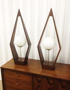 Amazing MCM lamp pair.
