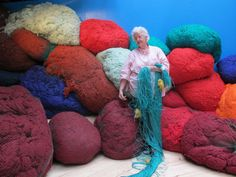Bundle of joy: Sheila Hicks in her Paris studio
