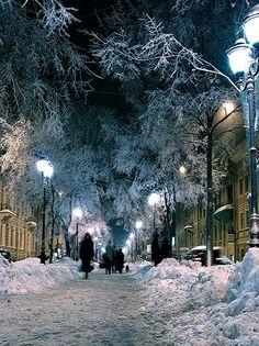 Snow in December.. St. Petersburg, Russia
