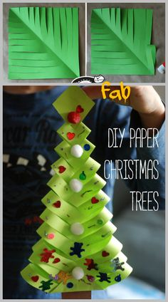 DIY Paper Christmas Tree Gift Topper Tutorial-Video                                                                                                                                                                                 More