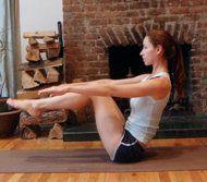 4 Yoga moves for a slimmer middle   Bikini - Yahoo Shine