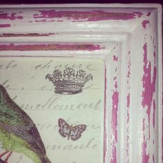 Detalle de marco rosa