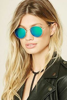 Iridescent Round Sunglasses