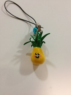 Happy Hawaiian Pineapple Ploymer Clay Charm by ItsyBitsyCutiePie, $6.00