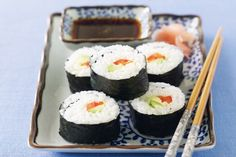 #california #rolls  Ingredients      1/2 quantity Basic sushi rice (see related recipe)     2 tablespoons mayonnaise     2 teaspoons S&B wasabi paste     3 nori sheets     1 small avocado, peeled, cut into strips     1 medium red capsicum, cut into strips     170g can crab meat, drained http://fredsfruit.com/california-rolls/