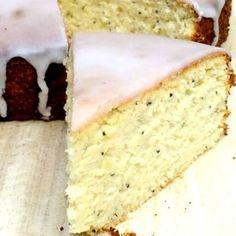 gâteau au citron, amandes et graines de pavot (sans beurre, sans lactose, sans