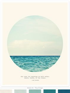 Salt Water Cure Art Print by Tina Crespo :: color palette by Creature Comforts