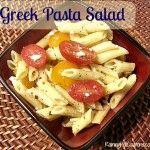 Delectable Greek Pasta Salad ~ Perfect for Summer Picnics!
