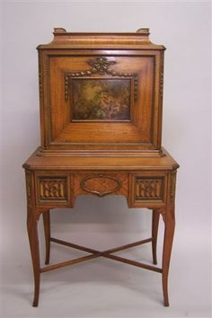 This antique lady's writing desk would definitely inspire me to write my next Regency mystery novel.