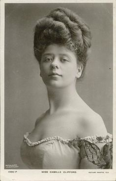 """Camilla Antoinette Clifford (29 June 1885 – 28 June 1971) was a Belgian-born stage actress and the most famous model for the """"Gibson Girl"""" illustrations. Her towering coiffure and hourglass figure defined the Gibson Girl style."""