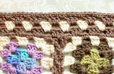 Granny Afghan Crochet Edging ... free pattern and tutorial.  #crochet #granny #edging #border