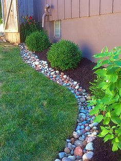 Landscape Services – SimpleScapes - All For Garden Landscape Edging, House Landscape, Garden Edging, Mulch Landscaping, Landscaping With Rocks, Front Yard Landscaping, Landscaping Ideas, River Rock Landscaping, Garden Yard Ideas