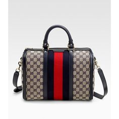 Gucci Medium Boston Bag ($1,095) found on Polyvore