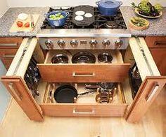 Kitchen Storage Cabinets Convenient Access