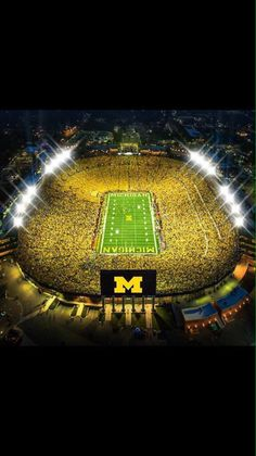 Have watched several football games at the big house in Ann Arbor, Michigan U Of M Football, Michigan Wolverines Football, College Football Teams, Football Stadiums, Sports Stadium, Detroit Sports, University Of Michigan, Michigan Go Blue, Michigan Game
