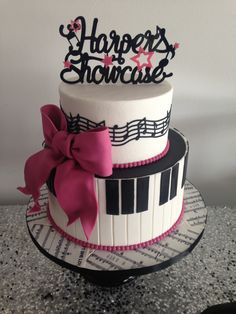 for the love of music - little girls birthday - piano keys and music