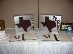 Texas Gift Boxes www.idealpartydecorators.com