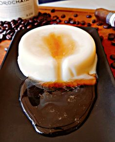 Licor 43 Panna Cotta with Coffee Syrup
