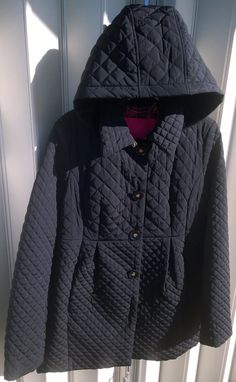 Betsey Johnson Black quilted Coat