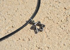 Star of David or Magen David pendants. Man's leather necklace. Amulet